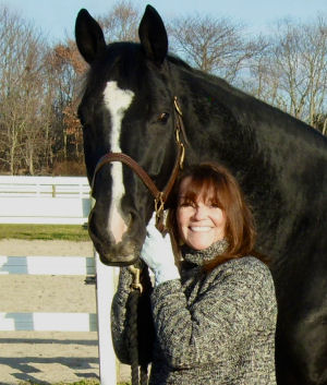 Joanna with her dressage gelding Eli.