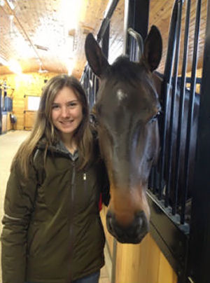 Vanessa and her horse Fritz  home at Con Brio Farm, Ontario, Canada.