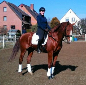 Miriam with her lovely dressage horse Shalino.