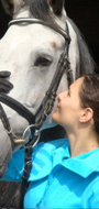 A top team: Aleksandra and her mare Cassina.