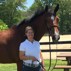 Allison with her mare Nora. They are already successful in the USA. Congratulations and all the best for the future!